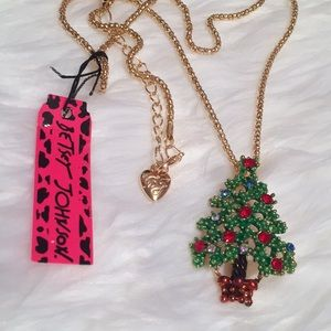 Betsey Johnson Christmas Tree Necklace NWT